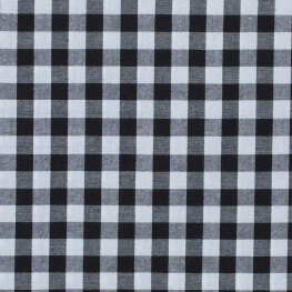 Tissu gros vichy noir & blanc