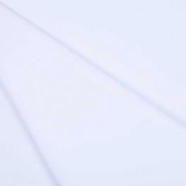 Tissu polyester viscose - Blanc pur