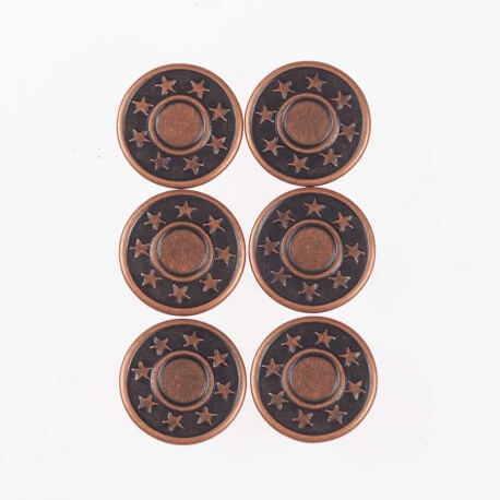 Boîte boutons jean 17mm - Bronze