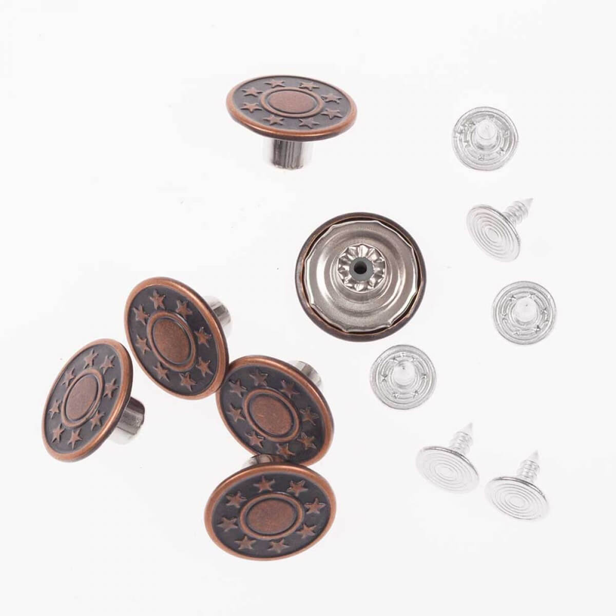 Bo te boutons jean 17mm bronze for Boite a bouton couture