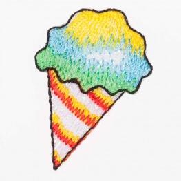 Ecussons cône de glace happy