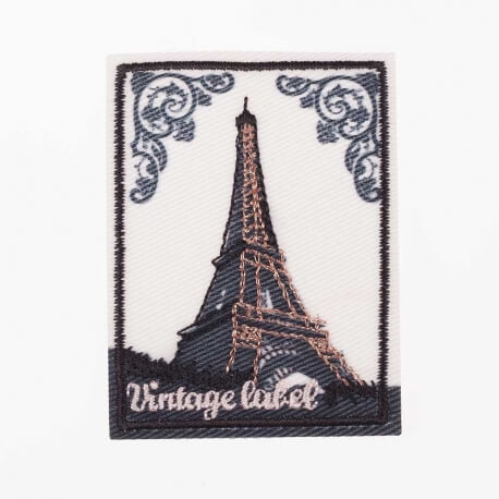 Ecusson tour Eiffel vintage