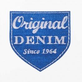 Ecusson original denim bleu