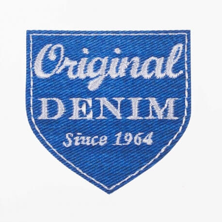 Ecusson original denim bleu