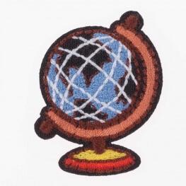 Ecusson globe terrestre