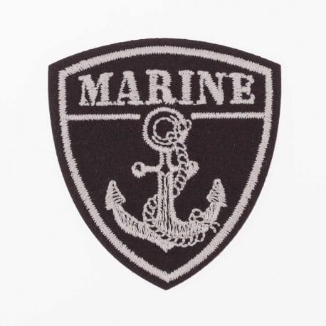 Ecusson blason ancre marine