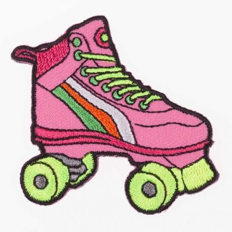 Ecusson 80's patin à roulettes
