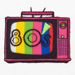 Ecusson 80's poste tv
