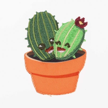 Ecusson happy cactus