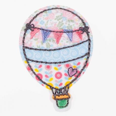Ecusson toudou montgolfière