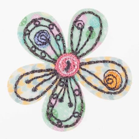 Ecusson toudou fleur