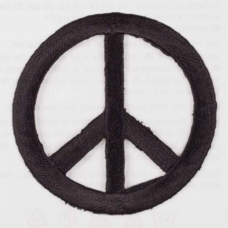 Ecusson peace & love noir