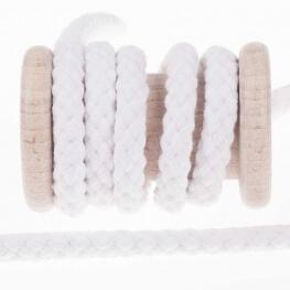 Cordelière coton uni blanc - 10mm