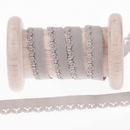 Elastique dentelle lingerie au mètre - Gris clair
