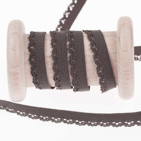 Elastique dentelle lingerie au mètre - Gris anthracite