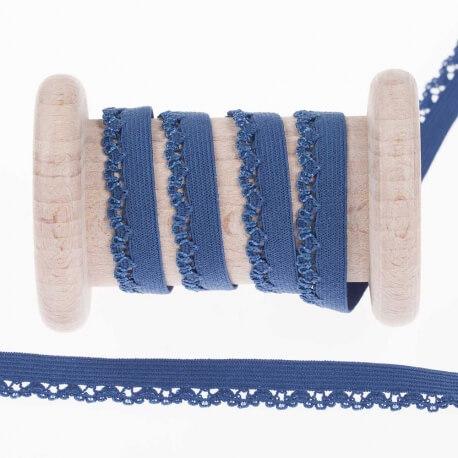 72c93cdbf1c21 Elastique dentelle lingerie, 5 mètres - Bleu - Mercerie Caréfil