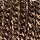 Chaîne maille gourmette au mètre 14,6mm - Laiton antique