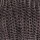 Chaînette maillon 3mm - Noir
