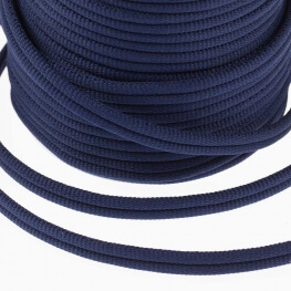 Galon passementerie double cordon - Bleu marine