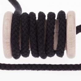 Cordon tresse 7mm - Noir