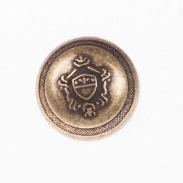 Bouton métal blason - Laiton antique