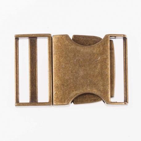Boucle en métal 25 mm - Laiton antique