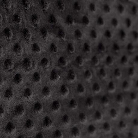 Tissu minky à pois - Noir