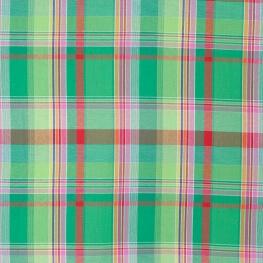 Tissu madras - Vert, rouge & rose