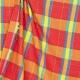 Tissu madras - Rouge, jaune & bleu