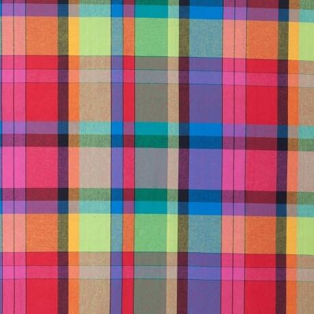 Tissu madras - Multicolore