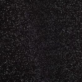 Tissu sweat à maille jersey scintillant - Noir