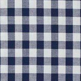 Tissu vichy bleu marine & blanc - Grand carreaux 2 cm