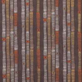 Tissu popeline coton ligne ethnique - Couleurs chaudes