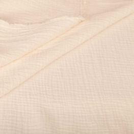 Tissu coton double gaze - Ecru