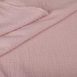 Tissu coton double gaze - Mauve pastel
