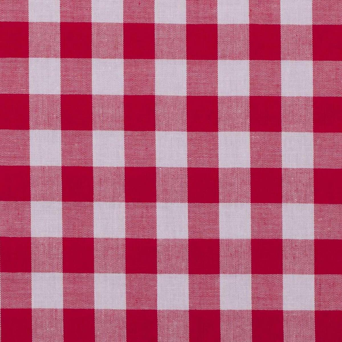 Tissu Vichy Grand Carreaux Rouge Blanc Mercerie Caréfil