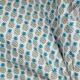 Tissu coton cretonne ananas - Bleu, bleu canard