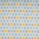 Tissu coton cretonne mini hiboux - Bleu, gris, jaune & vert