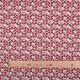 Tissu coton cretonne scandinave - Rouge & lin