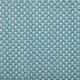 Tissu coton cretonne éventails - Bleu