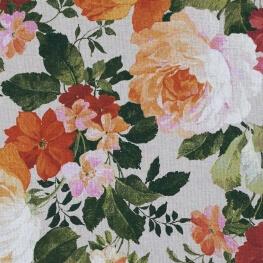 Tissu toile coton floral vintage