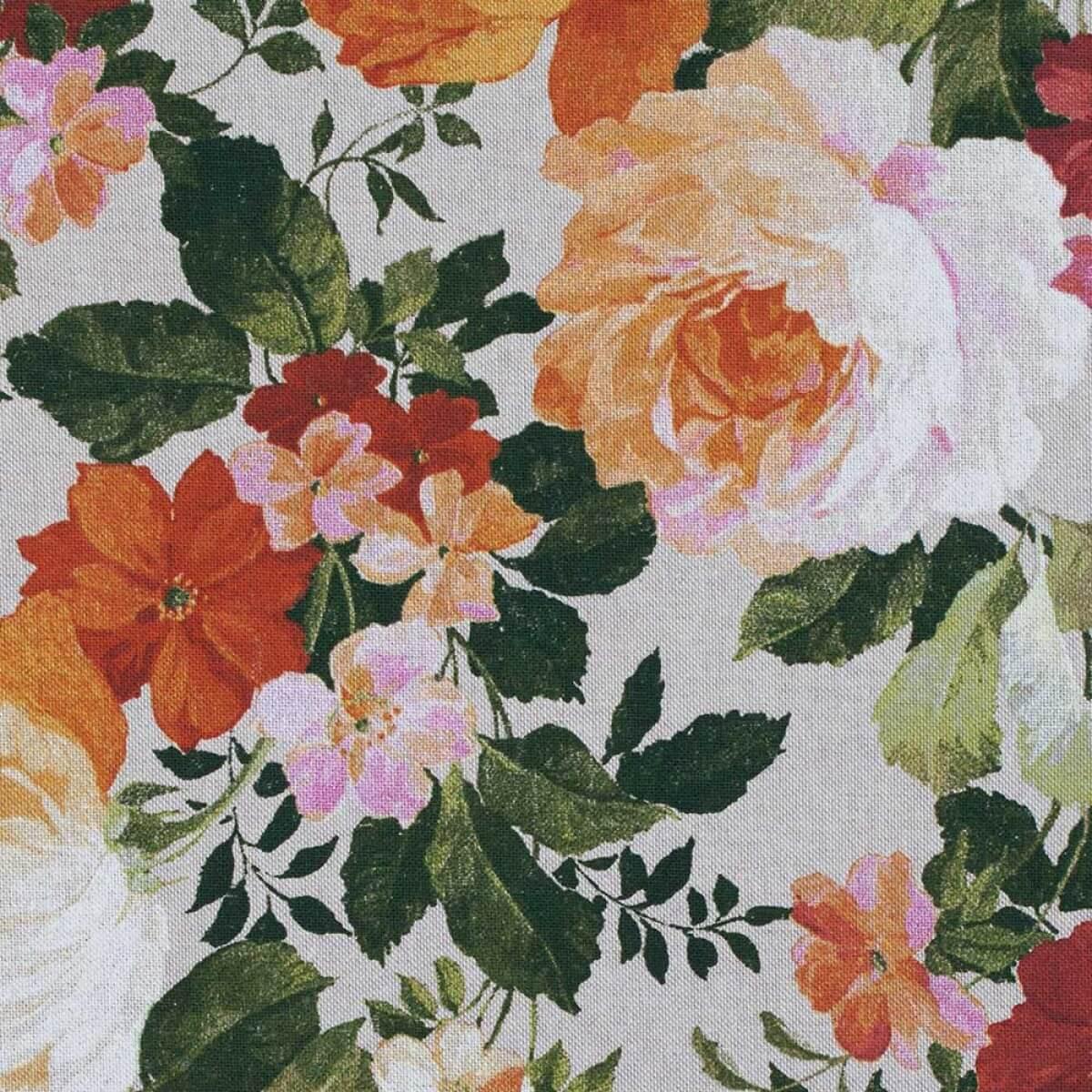 Tissu toile coton floral vintage merceriecar - Tissu ameublement vintage ...