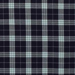 Tissu écossais - Bleu marine & bleu clair