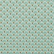 Tissu coton enduit éventails - Bleu lagon