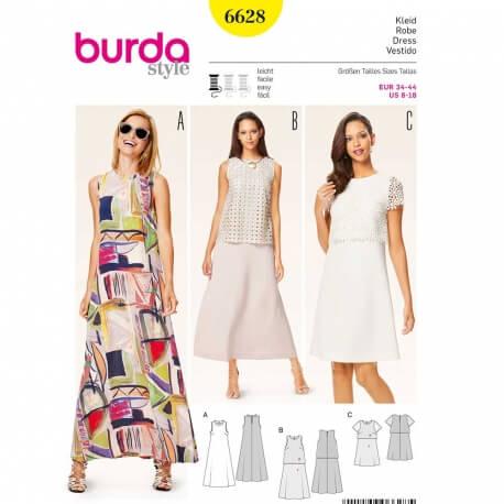 Patron de robe femme - Burda 6628 - Cousu Main saison 3