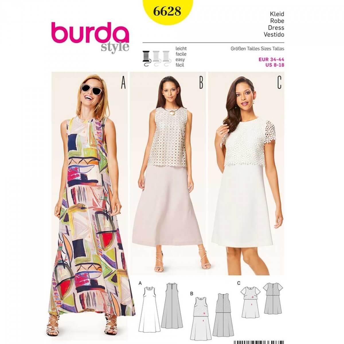 6a255017de356 Patron de robe femme, Burda 6628 - Cousu Main saison 3 - Mercerie ...