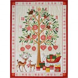 Kit DIY calendrier de l'avent à coudre - Arbre de Noël