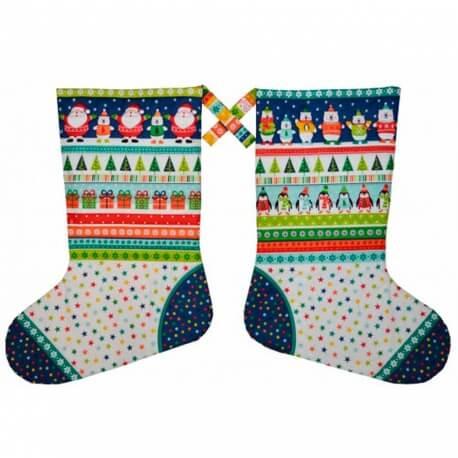 Kit DIY calendrier de l'avent à coudre - Grandes Chaussettes de Noël