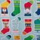 Kit DIY calendrier de l'avent à coudre - Chaussettes de Noël multicolores