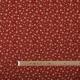 Tissu coton étoiles dorées - Rouge